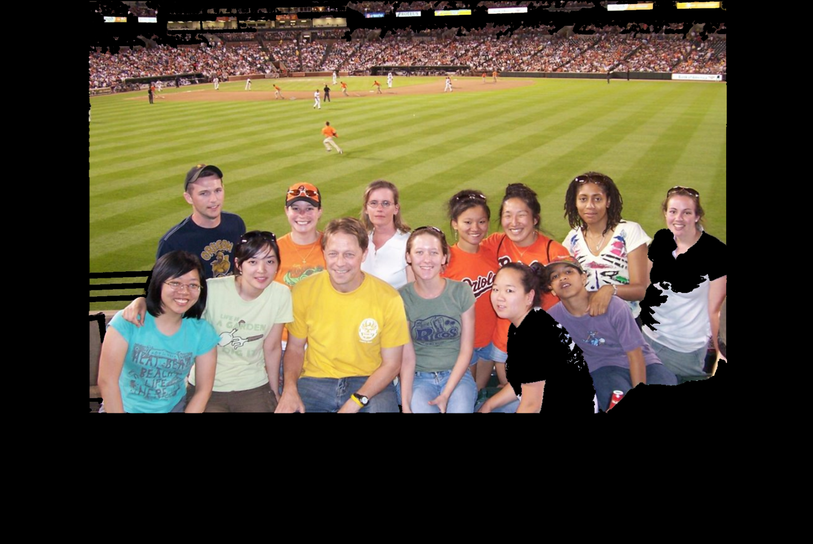 Leips Lab at the Oriole Game, Summer 2007